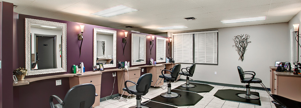 interior photo of Suzy and Company Hair Designs stylists work stations